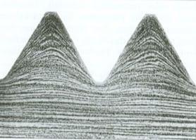 Verlauf der Materialfasern in gerolltem Gewinde